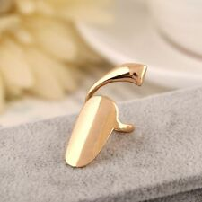 & Silver Finger Rings Women Jewelry^ Fashion Punk False Nails Alloy Metal Gold
