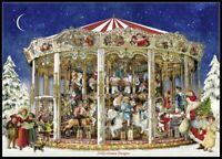 Chart Needlework DIY - Counted Cross Stitch Patterns - The Christmas Carousel