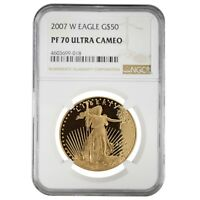 2007 W 1 oz $50 Proof Gold American Eagle NGC PF 70 UCAM