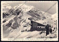 BIELLA OROPA 198 SCI SPORT INVERNALI - ALBERGO SAVOIA Cartolina viagg. (1935 ?)