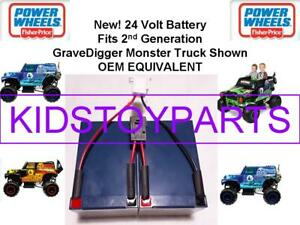 24V VOLT Battery for Grave Digger Power Wheels Toy Gravedigger PLUG AND PLAY!