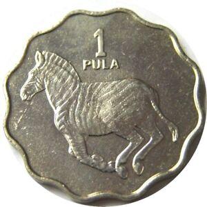 elf Botswana 1 Pula 1977 Zebra Horse