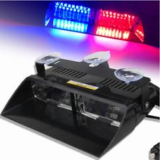 Blue&Red 16 LED Blue Police Strobe Flash Light Dash Emergency Flashing Car Light