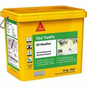 SIKA FAST FIX ALL WEATHER PAVE SETTING PAVING JOINTING COMPOUND OLD GREY 14KG