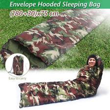 3 Season Adult Waterproof Envelope Sleeping Bag Camping Hiking Suit Case Zip