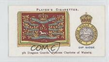 1924 Player's Drum Banners & Cap Badges Tobacco Base #8 5th Dragoon Guards 0a1