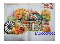 "NEW luxury finished completed Cross stitch""Beautiful Autumn""home decor gift"