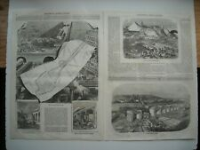GRAVURE 1852. PARIS. RACCORD GARE SAINT-GERMAIN AVEC CHEMIN DE FER DE L'OUEST...