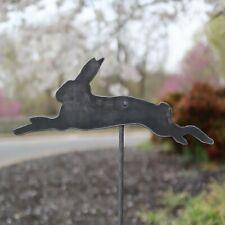 Metal Bunny Garden Stake - Steel Gardening Decor - Rabbit Yard Art Marker