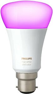Philips Hue B22 White and Colour Ambience Single Bayonet Smart Bulb Alexa Apple