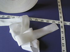 """2792R Ribbon Satin Grograin Acetate White 1 1/2"""" W 98 Yds Close Out Second"""