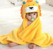 NEW! KIDS FLEECE HOODED BATH TOWEL (YELLOW LION)