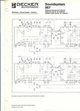 Becker Original Service Schaltplan für CD 967 Soundsystem