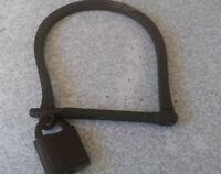 VINTAGE MILITARY KIT BAG HASP / LOCK-  STAMPED B.B. NO KEY -  4 X 4 INCH