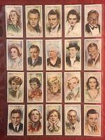 1934-JOHN PLAYER & SONS-FILM STARS 2ND SERIES-FULL 50 CARD SET-TOBACCO CARDS-EX+