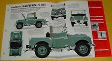 1955 Land Rover Series 1 Inline 4 Cyl 1997cc 1 Solex Carb IMP Info/Specs/photo