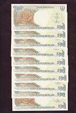 Indonesia 500 Rupiah P-128e  1992-1996  UNC x 10