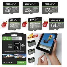 PNY Pro Elite 512 / 256 / 128 GB microSDXC UHS U3 V30 memory card Speicherkarte