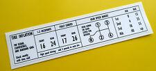 VW Vintage style Glove Box Information Sticker Decal VW BEETLE KARMANN GHIA