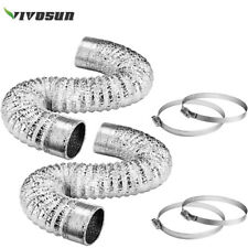 """New listing Vivosun 2Pack 6"""" 8ft Flexible Aluminum Air Ducting with 4 Clamps For Ventilation"""
