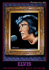 BLACK VELVET PAINTING, A Sad VELVET ELVIS Crying a Tear