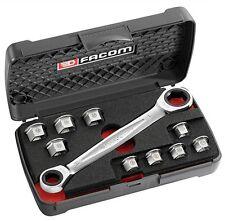 Facom 464. j1pb Socket Wrench Llave insertos conjunto de herramientas 8 mm - 19mm + Estuche