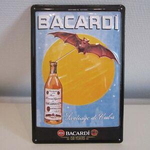 "BACARDI SCHILD ""SANTIAGO"" REKLAME BLECHSCHILD WERBESCHILD 20x30CM DEKO BAR"
