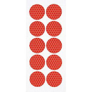Set 10 adesivi catarifrangenti per copribulloni, copridadi Adesivo ROSSO 27mm