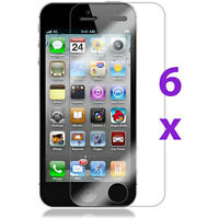 6Pcs Clear LCD Guard Shield Screen Protector Film for Apple iPhone 5 5S 5C Mini