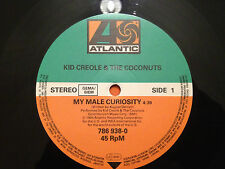 """KID CREOLE & THE COCONUTS - My Male Curiosity / Mike Rutherford AA sided 12"""" NM"""