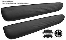 CARBON FIBER VINYL 2X FRONT DOOR ARMREST COVERS FITS BMW E46 CONVERTIBLE & COUPE