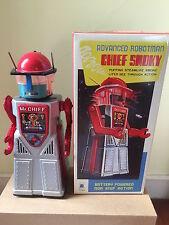 CHIEF ROBOT MAN SMOKY ROBBY ROBOT TIN TOY NOMURA ALPS YOSHIYA HORIKAWA TAKATOKU