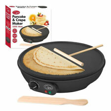 """Quest 35540 Traditional Electric Pancake & Crepe Maker 12"""" 1000W Hot Plate and Utensils"""