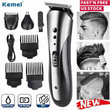 Kemei Beard Mustache Trimmer Men Wireless Nose Hair Clippers Shaver Grooming Set