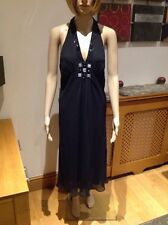 BEAUTIFUL BLACK AUSTIN REED SILK HALTER-NECK EVENING DRESS UK SIZE 16 WORN