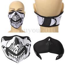 Punk Skull Neoprene Half Face Mask Ski Neck Snowboard Motorcycle Bike Protection