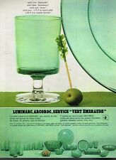 E- Publicité Advertising 1967 Service de table Verre Assiette Luminarc Arcoroc