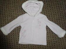 MATALAN-GIRLS JACKET age 2-3 FLEECE FURRY CASUAL HOODED ZIPPER GRAPHIC FLORAL