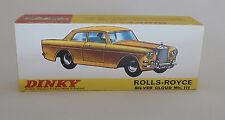 Repro box DINKY Nº 127 rolls royce silver Cloud MK III