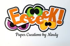 CRAFTECAFE MINDY HALLOWEEN SCARY premade paper piecing scrapbook title die cut