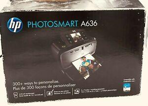 HP Photosmart A636 Photo Printer Touchscreen Q8637A- Open box