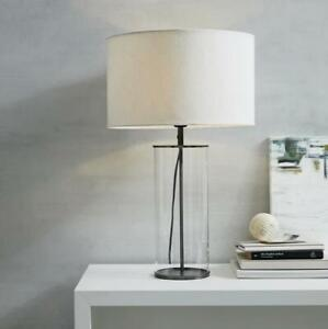 The White Company Pimlico Table Lamp Clear Glass / Metal Home Lighting Decor -*