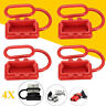 4pcs Red Plug Dust Cover End Cao For SB 50 AMP Connector(Red Rubber)