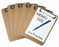 Mini Clipboards 6 X 9 Set Of 6 Memo Clipboard Low Profile Clip Classroom