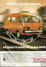 Publicité advertising 1982 Toyota Lite Ace Familial