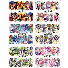 Lot 12 Sheets dreamcatcher water transfer nail art decoration stickers decals YK