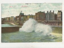Rough Sea Brighton 1905 Postcard 053b