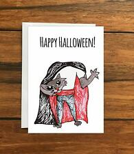 Happy Halloween Cat Greeting Card A6