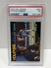 1994 Collectors Choice Michael Jordan Silver Signature #635 - PSA 7 - NM