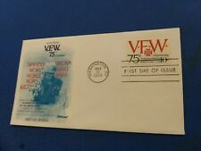 Scott #1525 10 Cent Stamp Honoring The 75th Anniversary V.F.W. First Day Issue